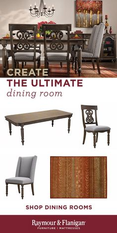 """If you're searching for a dining set with the looks your friends will rave about and the comfort they'll stick around for, you'll love the Kasari. This 7-piece dining set has it all, from the beautiful oak finish to fine details like nailhead trim and turned legs. Four dining chairs with scroll-back woodwork and a pair of upholstered chairs provide stylish seating. Plus, an 18"""" leaf lets you extend the table's length to accommodate your guests."""