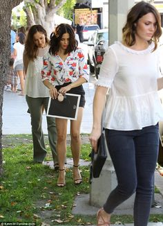 Girl time:Jenna Dewan-Tatum, 34, Minka Kelly, 34, and Mandy Moore, 30, were seen attending an Old Navy event in Beverly Hills on Saturday