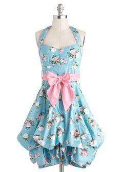 ModCloth Indigo Gardens Dress in Pastel