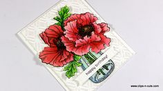 Hi crafty friends! Today I am back with a flower card. Perfect for any occasion with those adorable big and bold poppies! The poppies are by Stampendous, I just love…