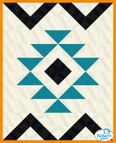 eazy peezy baby quilt - custom quilt designed by using PatternJam quilt design software Barn Quilt Designs, Barn Quilt Patterns, Quilting Designs, Star Quilts, Quilt Blocks, Southwestern Quilts, Southwest Decor, Arrow Quilt, Indian Quilt