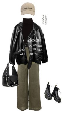 """Untitled #260"" by jacintadavis ❤ liked on Polyvore featuring Marc Jacobs, Off-White, Dorothee Schumacher, Balenciaga, Dr. Martens and Alexander Wang"