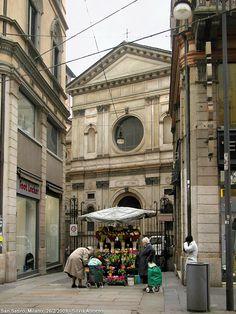 San Satiro (and the flower buyers), Milan