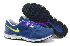 0N0AH0 Mens Nike Dual Fusion ST 2 Royal Blue/Lime Green Shoes