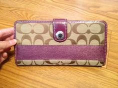 Available @ TrendTrunk.com Authentic Coach Wallet. By Coach. Only $48!