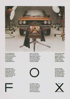 Print advertisement | Audi | Manny Gonzalez photograph | Helmut Krone art direction | Doyle Dane Bernbach | 1978