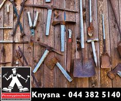 If you continuously leave your tools out in wet weather or put garden tools away dirty, chances are they will develop rust. Sandpaper can scratch outer rust away, or you can use a drill with a sanding attachment, which will do much of the work for you. #Pennypinchers #Knysna #tools #tip