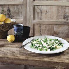 Ragout of rice, vegetables & feta with egg & lemon sauce recipe from Cuisine Magazine