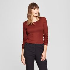 052d54a4cc2bc7 When you need to refresh your closet staples reach for this Fitted  Long-Sleeve Crew