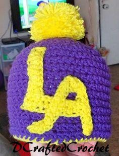 LA Lakers Hat by DCraftedCrochet on Etsy