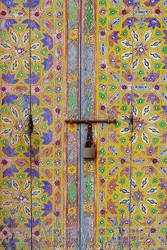 Hand Painted Moroccan vintage doors.