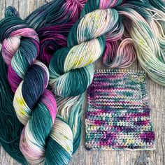 8 skeins available ~My kids make sure we visit a candy shop whenever we go stay in the mountains (and it's been awhile...2020 is dumb), and these colors made me think Candy Shop. This i...
