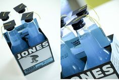 Cute!  We LOVE Jones Soda...You can also create your own labels...(add graduates senior photo to the bottle!)  No stealing family!  I may use this one come May!  :-)