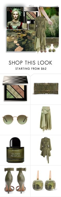 """Senza titolo #2060"" by elenagio ❤ liked on Polyvore featuring Burberry, Carlos Falchi, Ray-Ban, Valentino, Byredo, Zimmermann, Givenchy and Pomellato"