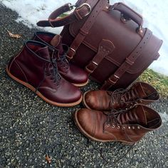 """""""Adding another pair of heritage Red Wings to the fold, my iron Rangers are a year old, and I just picked up the Beckman @redwingheritage The…"""""""