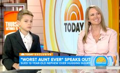 """""""Aunt from hell"""" Jennifer Connell spoke out about suing her 12-year-old nephew Sean (seeking $127,000) for hurting her wrist during an appearance on the Today show on Thursday, Oct. 15 -- watch the video to see his reaction!"""