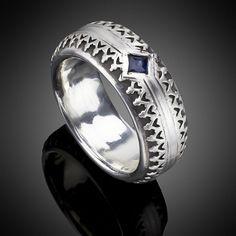 Lazaro SoHo jewelry Sterling Silver with Sapphire Band www.lazarosoho.com
