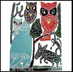 Gravura em cerâmica - J. Borges Art And Illustration, Arte Popular, Tatoos, Goats, Santa, Cards, Feels, Inspiration, Patterns