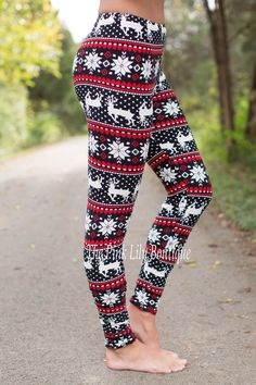 Discount code: amie10 to save!!! The Pink Lily Boutique - Reindeer Leggings Red and Black , $22.00 (http://thepinklilyboutique.com/reindeer-leggings-red-and-black/)