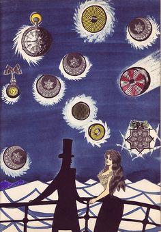 """Around the World in Eighty Days"" (1959) illustration by Czech illustrator Adolf Hoffmeister (1902-1973). via 50 watts"
