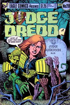 Eagle Comics Presents: JUDGE DREDD #28 - February, 1986. Cover by Brian Bolland.