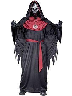 Includes; Robe hooded caplet chest drape belt gloves medallion mask Halloween Costume Shop, Halloween Kostüm, Boy Costumes, Adult Costumes, Cher Costume, Evil Children, California Costumes, Fun World, Costume Collection