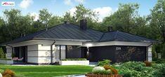 Z378 to wyjątkowy dom z kategorii projekty domów jednorodzinnych Home Building Design, Home Design Plans, Building A House, Facade House, Design Case, Modern House Design, Interior Design Living Room, Bungalow, House Plans
