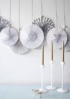 DIY Paper Fan Banner on Somewhere Splendid