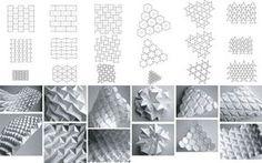 Tesselation. Paper art.