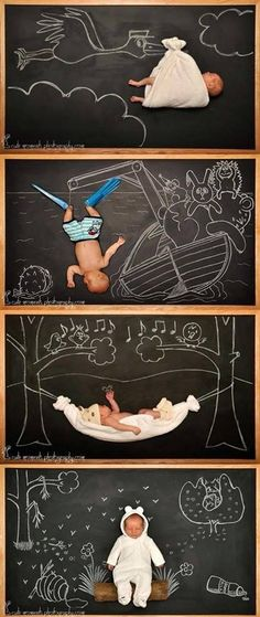 The Blackboard Baby Adventures! The Blackboard Baby Adventures (photo by Anna Eftimie) Newborn Pictures, Baby Pictures, Baby Photos, Funny Babies, Cute Babies, Baby Kids, Mom Funny, Baby Baby, Quando Eu For Pai