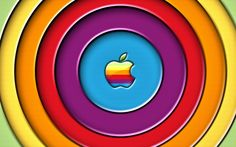 Mac Apple Rainbow Logo - Bing images