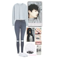 Jeon Jungkook - BTS by typical-ghoul on Polyvore featuring MANGO, Topshop, adidas and Lollipop