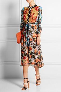 Duro Olowu Printed Fil Coupe Georgette Dress-- I wish Coast Fashion, Dress Outfits, Dress Up, Fashion Shows 2015, Inspiration Mode, Weekend Style, Well Dressed, African Fashion, Dress To Impress