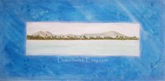 "My Original Acrylic Painting 18 x 36  ""Antigua"" - $600.00"