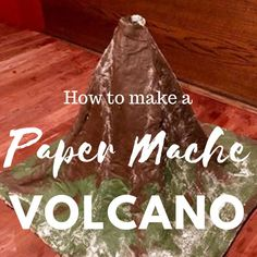 Perfect for kids and great for homeschooling. How to make a paper mache volcano. - Activities for Kids Volcano For Kids, Making A Volcano, Paper Mache Volcano, Volcano Projects, Making Paper Mache, Paper Mache Crafts For Kids, Kids Crafts, Easy Woodworking Ideas, Great Inventions