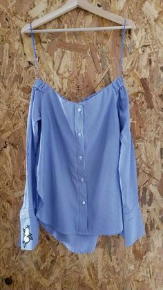 12d67ad9b Camisa Azul e Branca às Riscas Made in Portugal. Preço sob consulta   tendencia  roupa  imagina  fashion  modafeminina