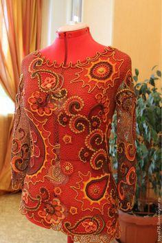 Free form crochet shirt