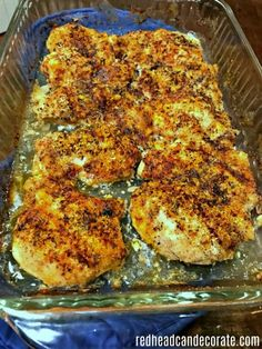 """Chicken Loretta Looking for a tender chicken recipe? This \""""Chicken Loretta\"""" recipe is the most tender flavorful chicken I have ever made so easily! Chicken Tender Recipes, Chicken Flavors, Turkey Recipes, Dinner Recipes, Picnic Recipes, Dinner Ideas, Food Dishes, Main Dishes, Goodies"""
