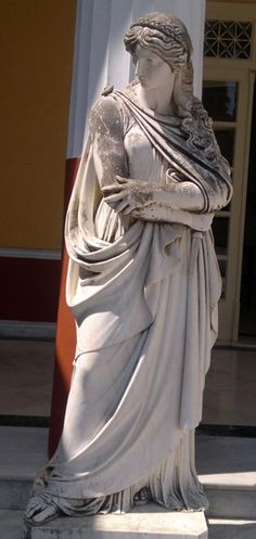 Polyhymnia , the Muse of Hymns  in Achílleion, Kerkira (Corfu).
