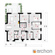 projekt Dom w bodziszkach 2 (T) rzut parteru