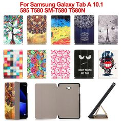 Print PU Leather Stand Case Cover For Samsung Galaxy Tab A 10.1 2016 T585 T580 SM-T580 T580N tablet bags S4C28D