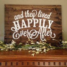 And They Lived Happily Ever After Large Sign, Happy Ever After Rustic Sign, I Do Forever Sign, Custom Wood Sign, Custom Wedding Gift, Pallet