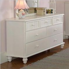 Hillsdale Westfield Double Dresser in Off-White Finish $489.00