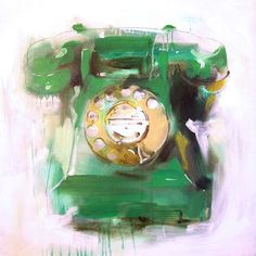 """""""Green Bakelite Telephone"""" by James Paterson"""