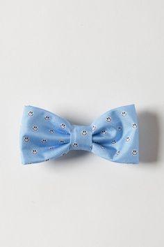 FeFè Papillon azzurro con smile bianco e nero per uomo primavera estate 2014