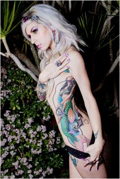 Mermaid Tattoo. This is bad ass!