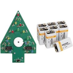 Elenco Christmas Tree Soldering Kit with Iron and Solder with AmazonBasics 9 Volt Batteries Bundle * You can get additional details at the image link.