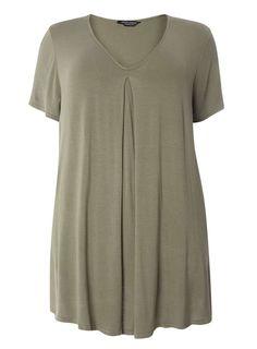 8f1d624eecbb4 DP Curve Khaki Front Pleat T-Shirt  affiliate Petite Outfits
