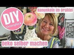 DIY-Deko Ideen selber machen - Ranunkeln im Wickeldrahtei - von Imke Riedebusch - YouTube