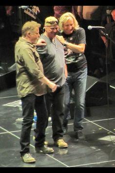 Eagles' Don Henley, Bernie Leadon, and Joe Walsh. 2013-2015 tour.